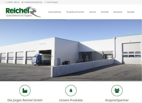 Screenshot der neun Internetseite